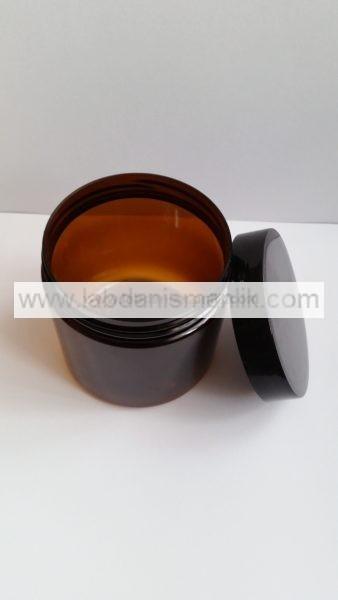 500 ml lik Plastik Kavanoz - Tırtıklı Kapak Siyah