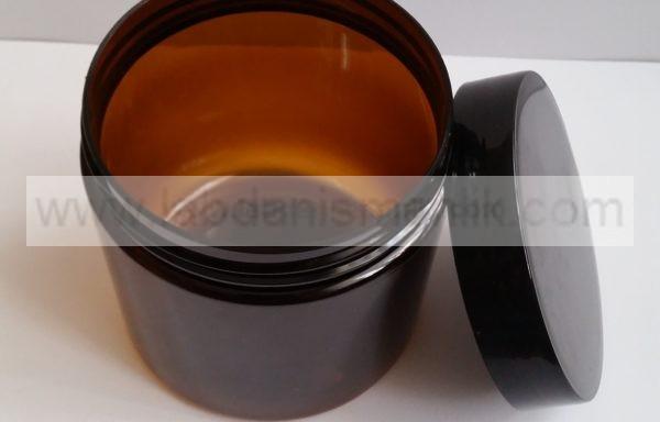 500 ml lik Plastik Kavanoz – Tırtıklı Kapak Siyah