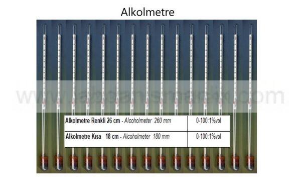 Alkol Metre / Alkol Ölçer – Cam – Greinorm Alman Malı