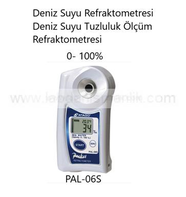 Refraktometre – Atago PAL-06S Refraktometre – Deniz Suyu Refraktometresi – Deniz Suyu Tuzluluk Ölçüm Refraktometresi – Ölçüm Aralığı: 0- 100%