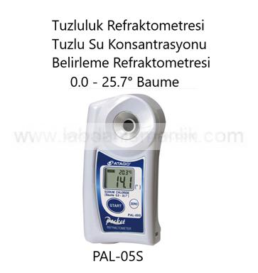 Refraktometre – Atago PAL-05S Refraktometre – Tuzluluk Refraktometresi – Tuzlu Su Konsantrasyonu Belirleme Refraktometresi – Ölçüm Aralığı:0.0 – 25.7° Baume