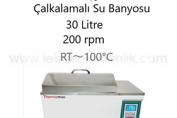 Su Banyosu – Çalkalamalı Su Banyosu – 200 rpm – Thermomac  30 Litre – RT~100°C