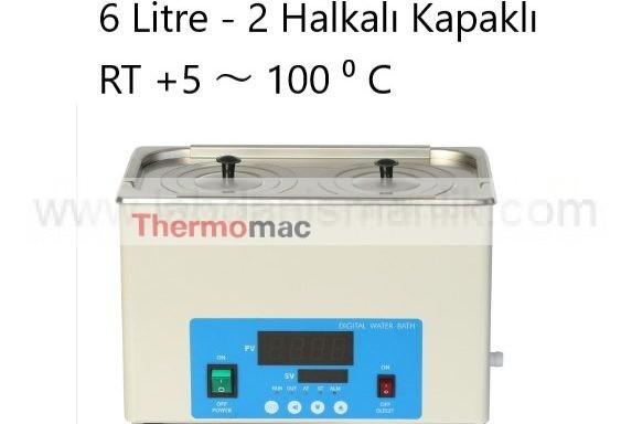 Su Banyosu Thermomac 6 Litre 2 Halkalı Kapaklı –  RT +5 ~ 100 ⁰ C