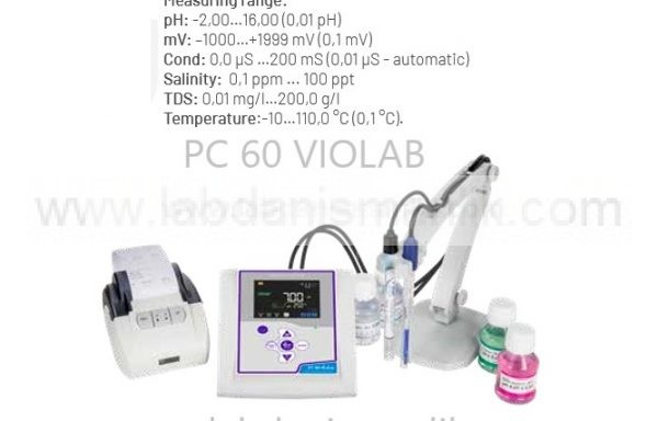 Multiparametre – Masaüstü- XS – PC 60 VIOLAB – pH + mV + COND + TUZLULUK + TDS + TEMP