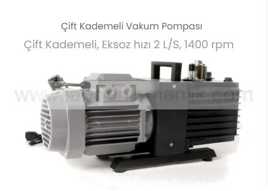 Vakum Pompası – Thermomac VP-24 – Çift Kademeli Vakum Pompası – 2 LT Saat, 1400 rpm