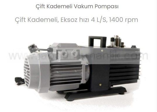 Vakum Pompası – Thermomac VP-91 – Çift Kademeli Vakum Pompası – 4 LT Saat, 1400 rpm